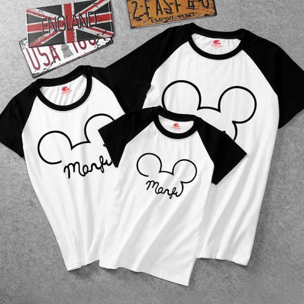 Matching Color Family Prints Mickey T-shirts