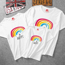 Matching Color Family Prints Happy Rainbow T-shirts