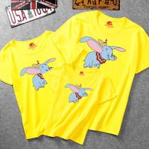 Matching Color Family Prints Elephants T-shirts
