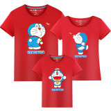 Matching Family Prints Doraemon Famliy T-shirts