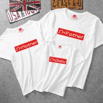 Matching Family Prints Slogan T-shirts