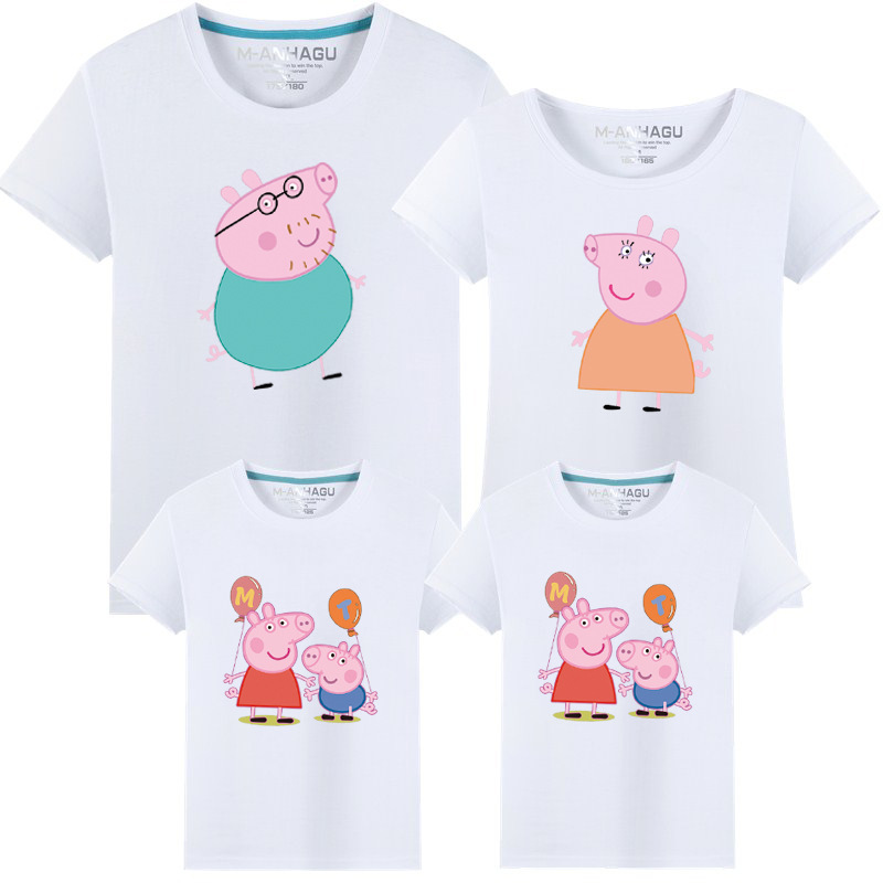 Matching Family Prints Peppa Pig Famliy T-shirts