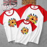 Matching Family Prints Lion Head T-shirts