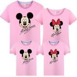 Matching Family Prints Mickey Minnie Mouse Famliy T-shirts