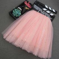 Kid Girl Gold Little Stars Tutu Maxi Skirt