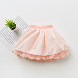 Kid Girl Bowknot Pearls Tutu Skirt