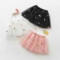 Kid Girl Embroidered Tutu Skirt