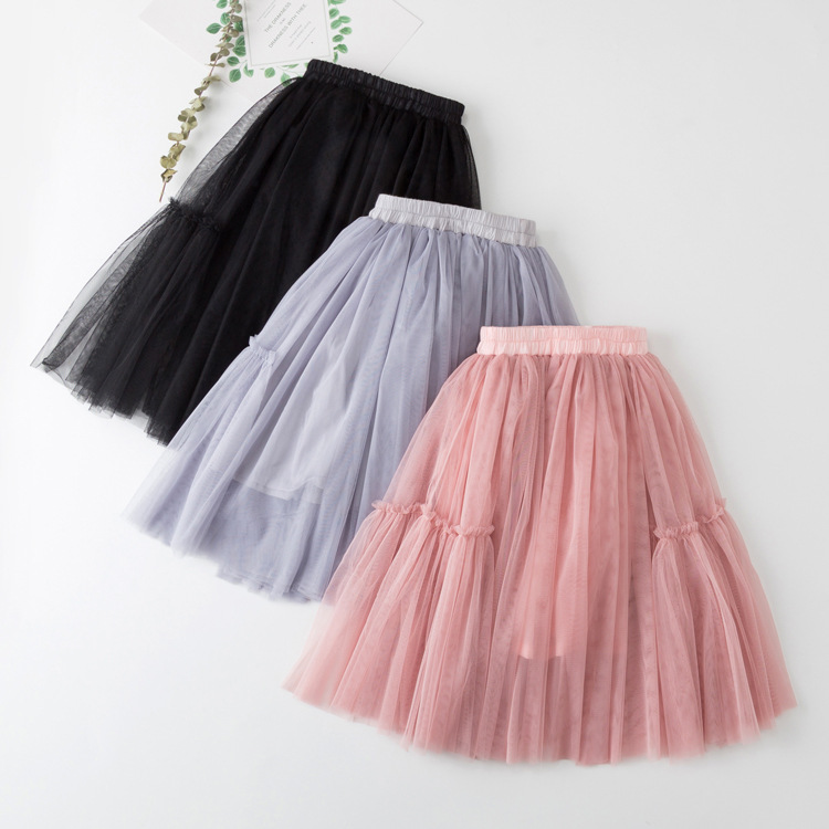 Kid Girl Pure Color Tutu Skirt