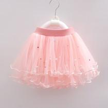 Kid Girl Colorful Pearls Tutu Skirt