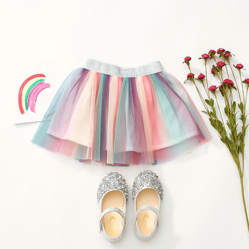 Kid Girl Rainbow Tutu Skirt