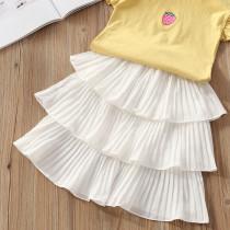 Kid Girl White 3 Layered Tutu Skirt
