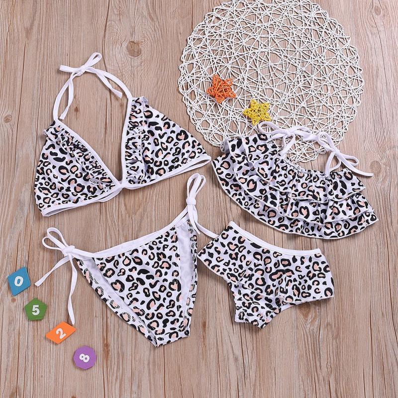 Mommy and Me Leopard Print  Family Matching Bikini Swimwear