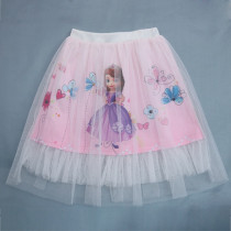 Kid Girl Print Princess White Tutu Skirts
