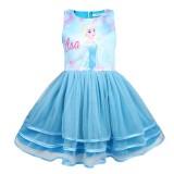 Kid Girl Print Cartoon Princess 3 Layers Tutu Dresses