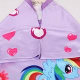 Kid Girl Rainbow Ponys Ruffles Sleepwear Dresses