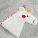 Kid Girl White Horse Sweatshirts
