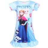 Kid Girl Print Cartoon Princess Ruffles Sleepwear Dresses