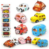 Kid 6 Packs Animals Model Vehicles Cars Alloy Pull Back Toy Car 1/48 Scale For 3Y+