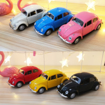 Model Motor Beetle Vehicles Alloy Pull Back Toy Cars 1/32 Scale For 3Y+ Kids