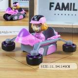 Transformation Cartoon Dog Vehicles Model Alloy Toy Cars 1/48 Scale For 3Y+