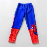 Kid Boys Underwater Diving Print Spiderman Swimwear Sets Long Sleeves Top and Truck With Swim Cap