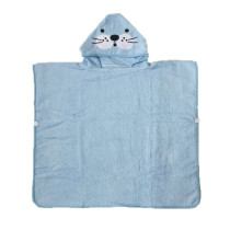 Blue Seal Hooded Bathrobe Towel Bathrobe Cloak For Toddlers & Kids