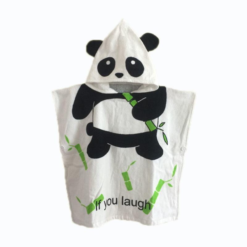 Cute Panda Hooded Bathrobe Towel Bathrobe Cloak For Toddlers & Kids Size 27.5*55inch