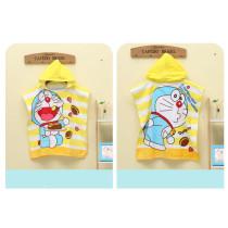 Baby Cartoon Cat Hooded Bathrobe Towel Bathrobe Cloak Size 24 *47
