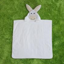 White Pony Hooded Bathrobe Towel Bathrobe Cloak For Toddlers & Kids