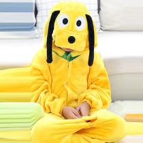 Kids Yellow Goofy Onesie Kigurumi Pajamas Kids Animal Costumes for Unisex Children