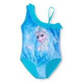 Kid Girls Print FROZEN Lisa Ruffles Blue Swimsuit