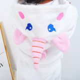 Kids Unicon Hooded Bathrobe Sleepwear Comfortable Loungewear