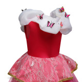 Kid Girl Lovely Princess Sleeveless Embroidered Butterfly Dress