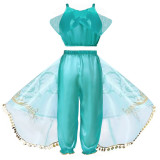 Kid Girl Jasmine Sequined Top With Culottes Two Pieces