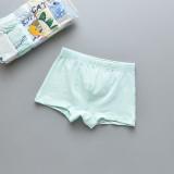 Kid Boys 5 Packs Print Dinosaur Boxer Briefs Cotton Underwear