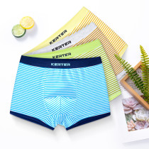 Kid Boys 4 Packs Stripes Boxer Briefs Cotton Underwear