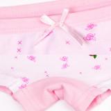 Kid Girls 2 Packs Print Cartoon Rabbit Flowers Boxer Briefs Cotton Underwear