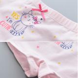 Kid Girls 5 Packs Print Cute Cat Boxer Briefs Cotton Underwear