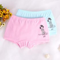 Kid Girls 2 Packs Print Little Girls Dots Boxer Briefs Cotton Underwear
