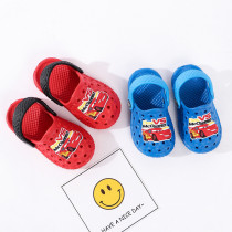 Toddlers Kids Cartoon Racing Cars Flat Beach Slippers Sandals