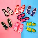Kid Toddler Girl Cartoon 3D Bowknot Jelly Flats Shoes