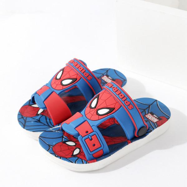 Toddlers Kids Cartoon Spiderman Captain America Flat Beach Slippers Sandals
