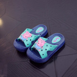 Toddlers Kids Cartoon Peppa George Pig Hollow Out Stars Flat Beach Slippers