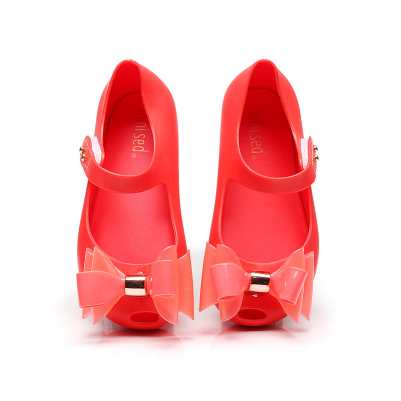 Kid Toddler Girl 3D Bowknot Jelly Flats Shoes