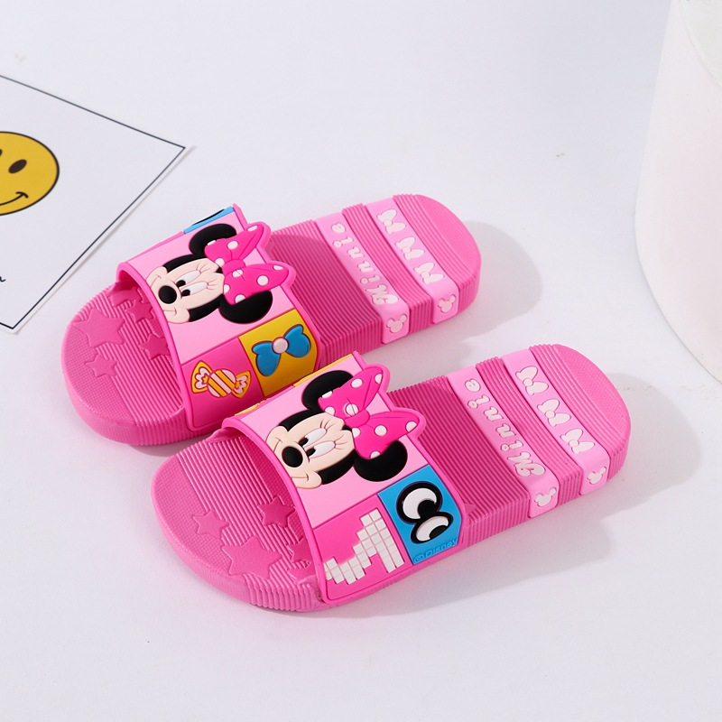 Toddlers Kids Cartoon Mickey Minny Flat Beach Slippers