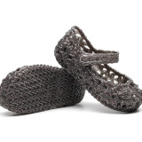 Kid Toddler Girl Glitter Hollow-Out Jelly Flats Sandals Shoes