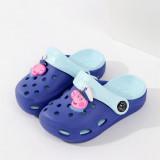 Toddlers Kids Cartoon 3D Peppa Pig Flat Beach Slippers Sandals