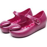 Kid Toddler Girl 3D Glitter Heart Jelly Flats Shoes