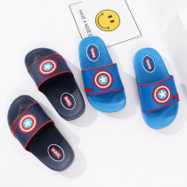 Toddlers Kids Cartoon Captain America Flat Beach Slippers