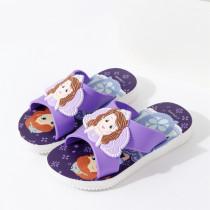 Toddlers Kids Cartoon 3D Sofia Princess Flat Beach Slippers